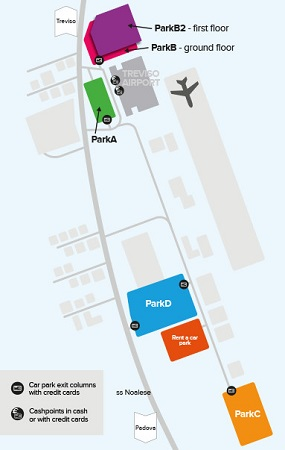 treviso airport parking map rental cars
