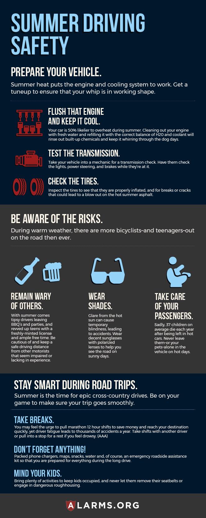 car rental summer driving tips